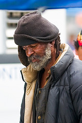 Black Homeless Man by RC Williams
