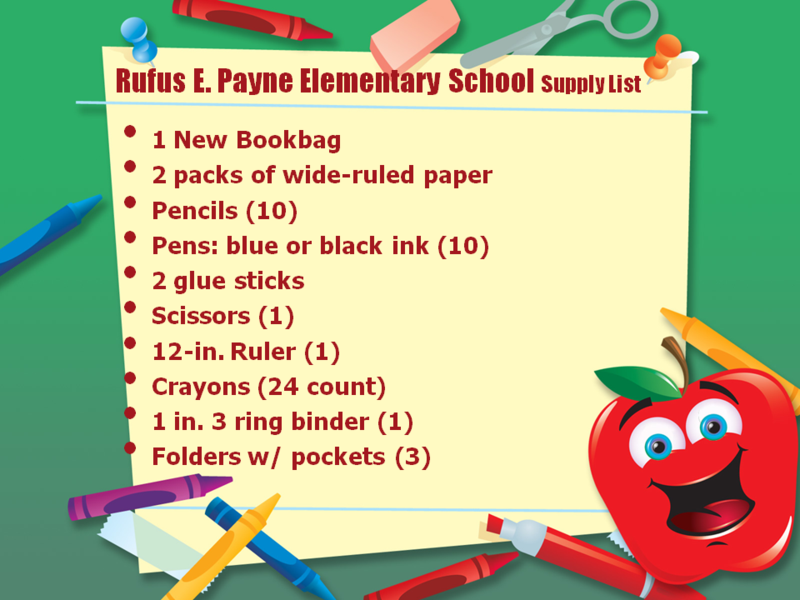 Payne School Supply List-image